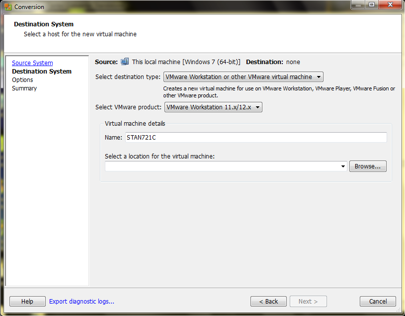 Steps to convert a Parallels (OSX) VM to VMware (Linux